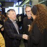 Milena i Frano Lasić sa gostima na otvaranju izložbe