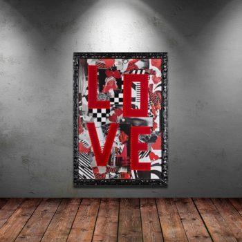 "Collage ""The Shining Love"" in Dark Interior"