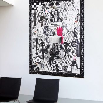 "Collage in ""Money in the Head, Heart in the Hand"" Interior"